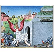 10x8 Print of The guards who were guarding the tomb fell frightened throug (14321222)