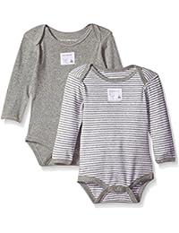 Burt's Bees Baby - Set of 2 Bee Essentials Long Sleeve Bodysuits, 100% Organic Cotton
