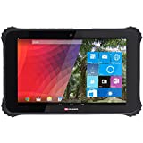 """Facom F1000 Rugged Tablet 10,1"""" (Windows 10 Home & Android 4.4, 3G/Wi-Fi, Dual Boot IP65 & MIL-STD-810G) Black"""