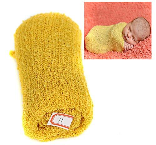 Eleusine Baby Wickeln Schlafsäcke Wickeln Decke Universal Baby Nette Neugeborene Säugling Baby Mädchen Swaddle Fotografie Prop,Gelb
