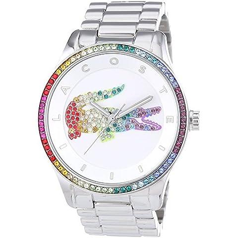 Lacoste VICTORIA - Reloj Analógico de Cuarzo para Mujer, correa de Acero inoxidable color Plateado