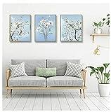 Cqzk Orchidee Blumen Vogel Leinwand Gemälde Wandkunst Bilder Poster Für Wohnzimmer Dekoration 30 cm X 40 cm X 3 kein Rahmen