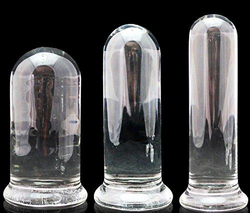 #Deluxe Large Zylindrisch GlasDildo(Ø50mm), Anal Butt plug Sex Spielzeuge für Frauen und Männer-M#