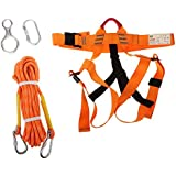 Imported Rock Climbing Safety Harness Sitting Belt Rappelling Carabiner Rope Gear Set