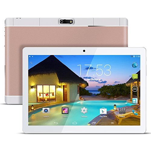 Kivors Tablette Tactile 3G 9.6' HD Métal -Android 4.4 Quad Core - 16 Go ROM - 800*1280 HD - Double Carte SIM - Double Caméra - Bluetooth - Wifi pour enfants adults (Rose)