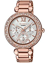 Casio Sheen Analog Silver Dial Women's Watch - SHE-3061PG-7AUDR (SX211)