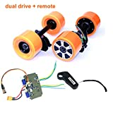 Electronic Longboard Hub Motor Kit Skateboard Brushless Motor Wheel With Truck Electric Board Dual Motor Drive Remote Controller (Dual drive remote)