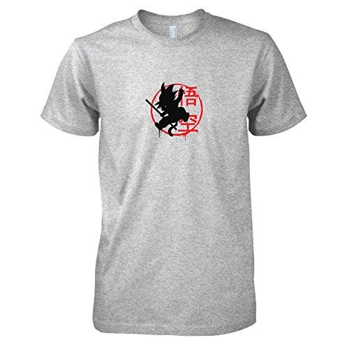 TEXLAB - DBZ: Little Goku - Herren T-Shirt Graumeliert