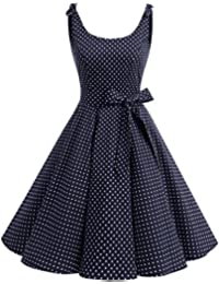 bbonlinedress Donna Vestiti Vestito 1950 Festa Cocktail Vintage Rockabilly