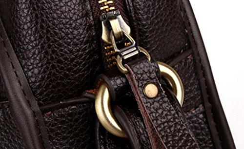 Geschäftsart Und Weise Wilde Atmosphäre Freizeit Horizontale Absatz PU Handtasche Schultertasche Messenger Tasche Computer Tasche Aktenkoffer Black