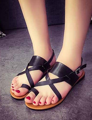 Dress Outdoor Flat White Casual Women's Burgundy Sandals Comfort Heel Black ShangYi Shoes Beige 1wqfBx0UYO