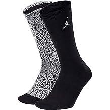 Nike Jordan Elephant Crew Calcetines, Hombre, White/Pure Platinum/Black, Small