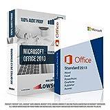 Microsoft Office 2013 Standard. Original-Lizenz. 32 bit & 64 bit. Deutsch. MS Audit Sicher + ISO DVD, Lizenz. Inkl. Papiere, Zertifiziert