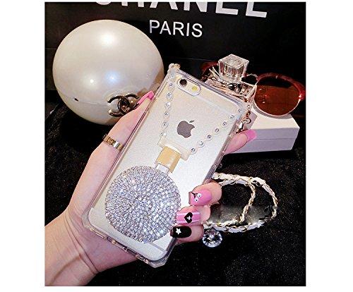 Coque iPhone 6/6S, iNenk® 2015 Titulaire nouveau téléphone mobile Shell doux parfum TPU Silicone Sleeve Housse de protection femmes Halter Case-Rose Rouge Argent