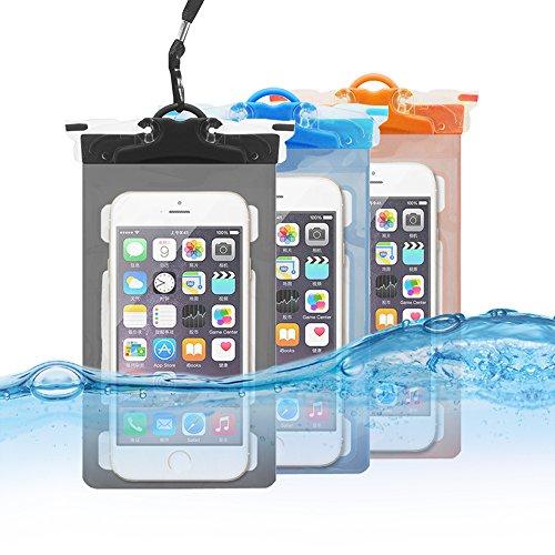 Unbekannt Wasserdicht Fall Multifunktions Handy Tasche mit Armband Dry Bag Funktion & Riemen Passt für Alle Smartphones bis zu 15,2cm Diagonale Größe für iPhone, Samsung, Google, Huawei (3er Pack) Industrie-handy-fall
