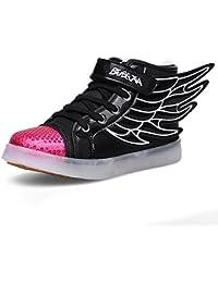 fd04d50aa969e DoGeek - Baskets Enfant Lumineuse Garçons Filles - 7 Couleur Chaussure  Clignotants LED - USB Rechargeable
