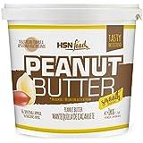 HSN Foods - Mantequilla de Cacahuete con Textura Cremosa y Suave - 100% Natural - Peanut Butter Smooth -  Apto Vegetariano - Sin grasa de palma - Sin grasa trans - Sin azúcar ni sal añadidos - 1000g