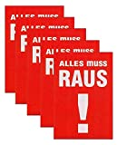 Plakate 5 Stück aus Papier 150g/qm 58,4 x 83,2 cm ALLES MUSS RAUS ! ohne Rahmen Werbesymbol