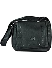 SPERO ™ Women's Stylish Zip Lock Casual Black Handbag With Free Shipping