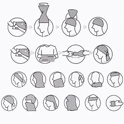 Black Canyon Multifunktionstuch Schlauchtuch Halstuch Kopftuch Bandana, In vielen verschiedenen Farben, blau mit muster, BC7005-14