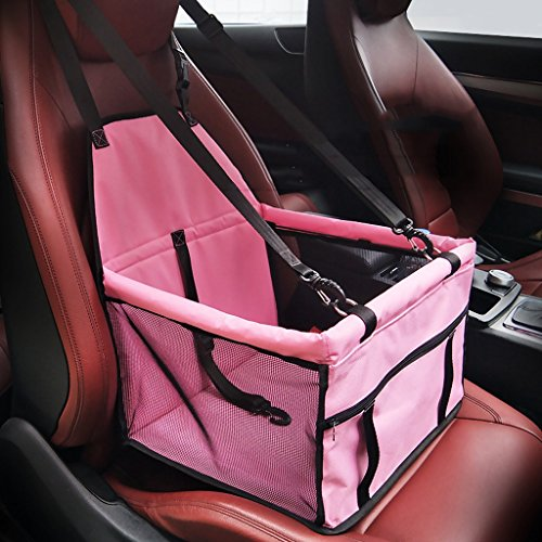 Pet Dog Car Seat Booster Carrier Protector Bag Cage Cover SYAODU Waterproof Deluxe Portable Travel With Clip On