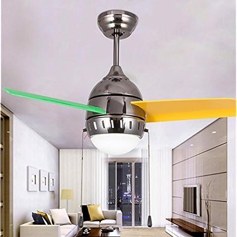NHD-Modern minimalist fan chandelier, chandelier creative acrylic