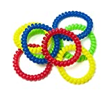 Chewzy Sensations Chewable Jewelry Large Coil Bracelet - Fun Sensory Motor Aid - Speech And Communication Aid - Great For Autism And Sensory-Focused Kids Multi-Color (8 Count)