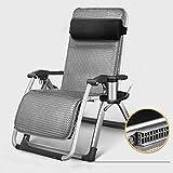 LCTCDD Chaise Infinity Zero Gravity, chaises de terrasse de salon extérieur avec...