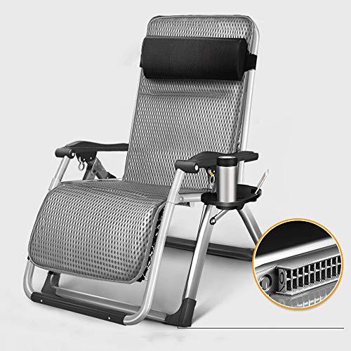 LCTCDD Unendlichkeits-Schwerelosigkeits-Stuhl, im Freienaufenthaltsraum-Patio-Stühle mit Kissen und Gebrauchsbehälter-justierbarem faltendem Recliner für Plattform, Patio, Strand, Yard (Color : E) (Patio-stuhl-kissen Türkis)