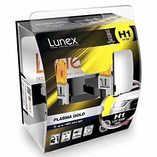 LUNEX H1 PLASMA GOLD Ampoules Halogenes Phare Jaunes 448 12V 55W P14,5s 2800K duobox (2 pièces)