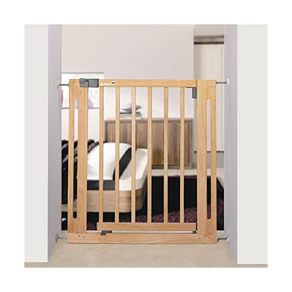 Safety 1st Easy Close Safety Gate Made from Wood / Pressure Fit / Natural  Stable door safety gate made of gum tree wood Easy to install due to 4-point clamping function Adjustable from 73 to 80.5 cm 4