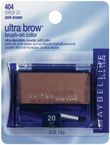 MAYBELLINE ULTRA BROW BRUSH-ON COLOR #20 DARK BROWN