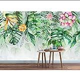 Carta da parati MRQXDP Carta da parati personalizzata con foto Grande murale 3D Foresta pluviale tropicale Banana Leaf Photo Wallpaper wallpaper 3d