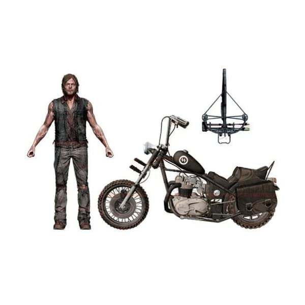 The Walking Dead TV Series / Daryl Dixon Action Figure 5 inches with chopper bike deluxe box set by McFarlane Toys 1