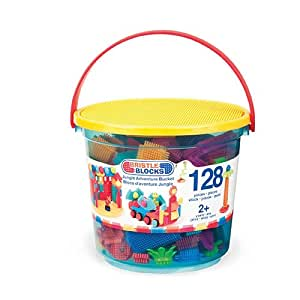 "Bristle Blocks Ensemble de construction ""Jungle Adventure Bucket"" (128 pièces)"