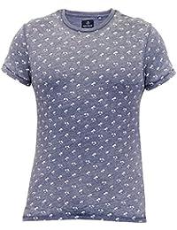 T-shirt Pour Hommes Threadbare Impression Palmier Manches Courtes Col Rond Décontracte Été