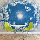 Himmel Wolken Sonne Natur - Forwall - Fototapete - Tapete - Fotomural - Mural Wandbild - (2308WM) - XXXL - 416cm x 254cm - VLIES (EasyInstall) - 4 Pieces