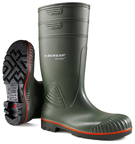 Dunlop a442631 s5 acif.knie groen 46 polacchine unisex, verde (groen), 40 eu (6.5 uk)