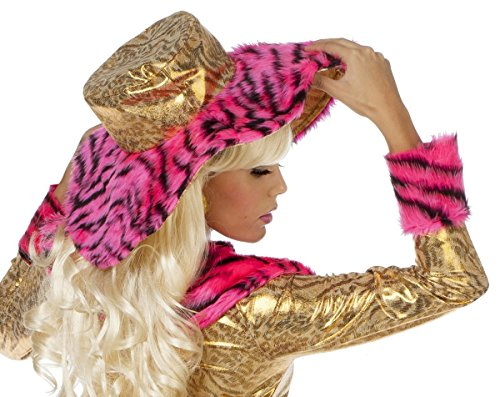 Kostüm Zubehör Hut Pink Pimpette zur Proll Lady Karneval Fasching