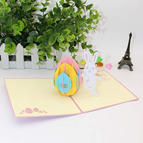 P12cheng Hase Grußkarte, Oster-Ei, Kaninchen, 3D-Pop-Up-Papier-Grußkarten, handgefertigt (Küken Und Oster-enten)