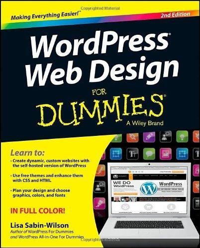 WordPress Web Design For Dummies by Sabin-Wilson, Lisa (2013) Paperback
