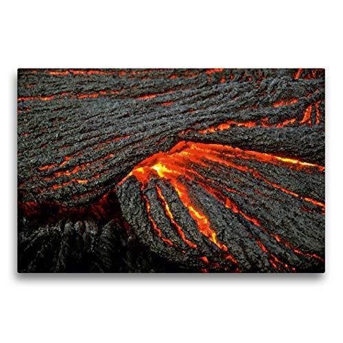 Calvendo Premium Textil-Leinwand 75 cm x 50 cm quer, Strick-Lava | Wandbild, Bild auf Keilrahmen, Fertigbild auf echter Leinwand, Leinwanddruck Natur Natur