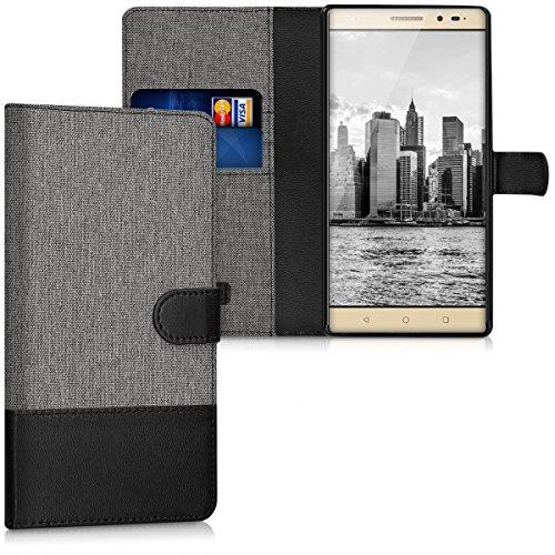 kwmobile Lenovo Phab2 Plus Hülle - Kunstleder Wallet Case für Lenovo Phab2 Plus mit Kartenfächern und Stand