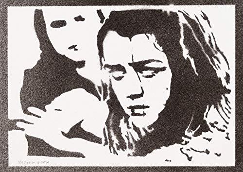 Staffel 5 Kostüm Arya - Arya Stark Game Of Thrones Poster Plakat Handmade Graffiti Sreet Art - Artwork