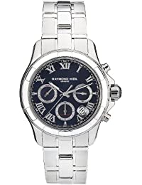 Raymond Weil Men's 41mm Steel Bracelet & Case Automatic Black Dial Chronograph Watch 7260-ST-00208