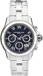 Raymond Weil Men's 41mm Steel Bracelet & Case Automatic Black Dial Chronograph Watch 7260-ST-00208