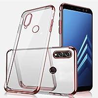 Uposao Huawei Honor 8X Hülle Plating TPU Case mit Überzug Farbig Rahmen Hülle Durchsichtig Schutzhülle Ultradünn Handyhülle Transparent Weiche Silikon TPU Rückschale,Rose Gold