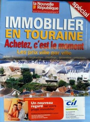 IMMOBILIER EN TOURAINE [No 19908] du 21/04/2010 - ACHETEZ C'EST LE MOMENT - LES PRIX VILLE PAR VILLE