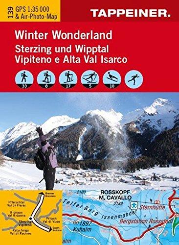 Winter wonderland Vipiteno e Alta Val Isarco. Carta topografica 1:35.000. Con 5 foto panoramiche. Ediz. italiana e tedesca por Aa.Vv.