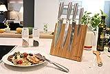 Coninx Quin Magnetischer Messerblock | Ohne Messer | Messerhalter aus Bambus für eine organisierte und aufgeräumte Küche | Maβe: 22cm H x 23cm B x 12cm T | 5 Jahre Herstellergarantie - 5